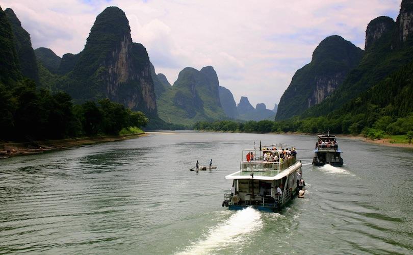 Hajókirándulás a Li-folyón