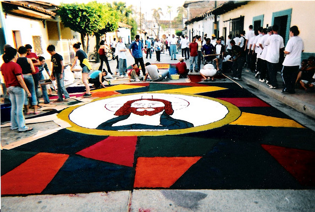 Comayagua utcai szőnyegei
