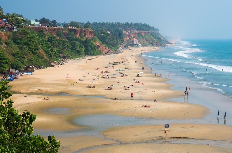 Varkala strandja