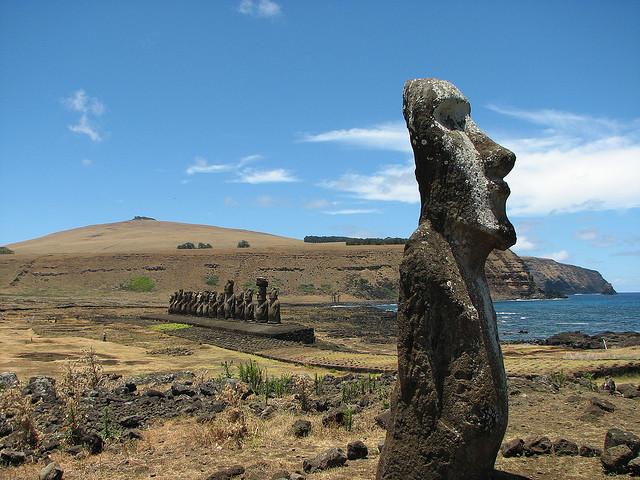 Moai szobrok