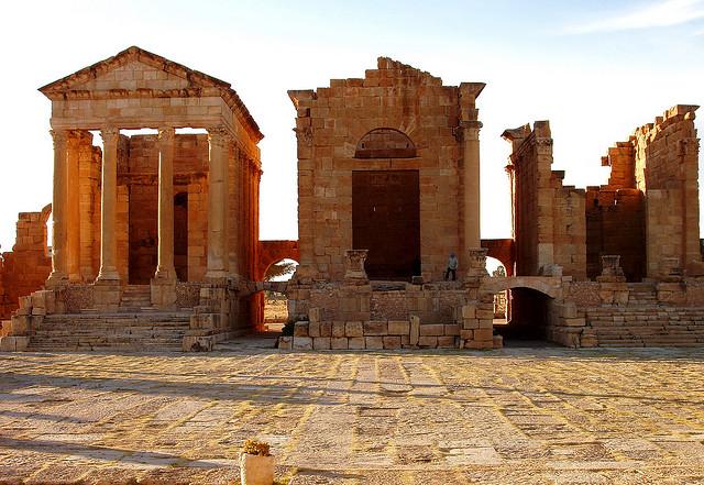 Sbeitla Fórum templom