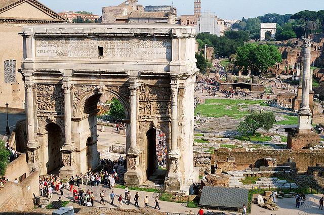 Septimius Severus diadalíve Rómában
