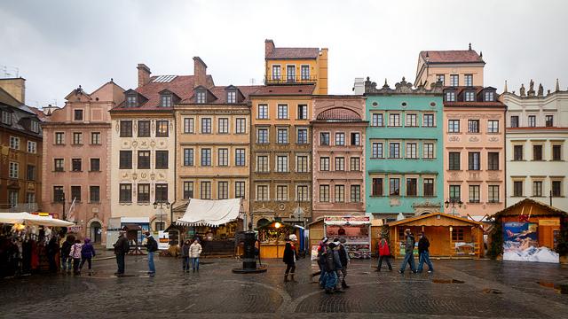 Varsó óvárosi piactere