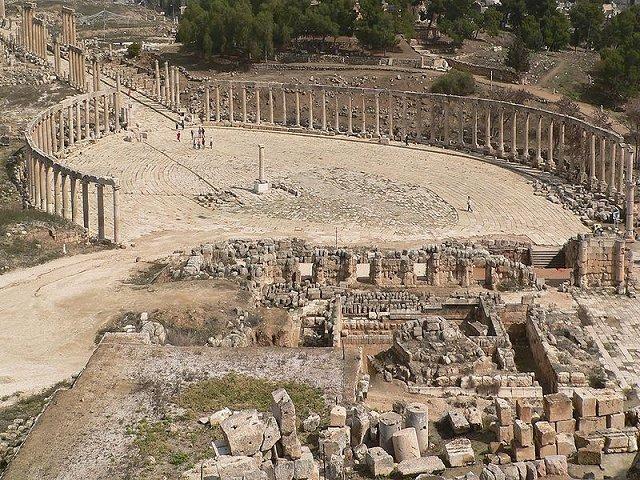 Jerash - római Fórum